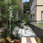 新築 外構工事  モダン で使い勝手の良い お庭