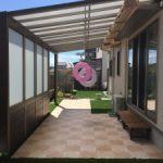 エクステリア工事 ガーデンルーム と タイルテラス で心地良い 空間