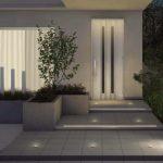 リクシル の LEDライト で 夜間も安全なエントランス