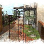 緑と調和したお庭リフォーム工事