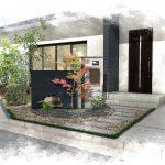 玄関周り植栽の似合う素敵なお庭