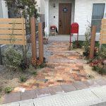 人工芝と植栽のお庭