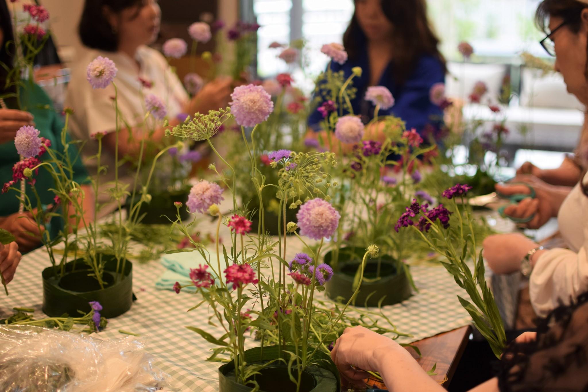 シンフォニックガーデン花イベント作業 画像