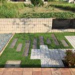 外構 リフォーム工事 舗装材 と 人工芝 の おしゃれ な お庭