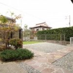 外構リフォーム工事 人工芝 の お庭 と サンルーム