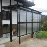 お家の外壁に固定しない独立式テラス屋根