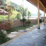 自然石でお庭をグレードアップ