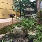 純和風の茶庭の空間