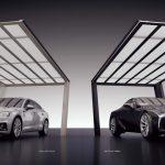 人目を惹く独創的なデザインのカーポート